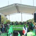 Marcha verde del domingo 12 de agosto 2018 desde la Av. Tiradentes hasta Centro de los heroes, en Sto.Dgo Repùblica Dominicana.  HOY/ Ariel Gomez