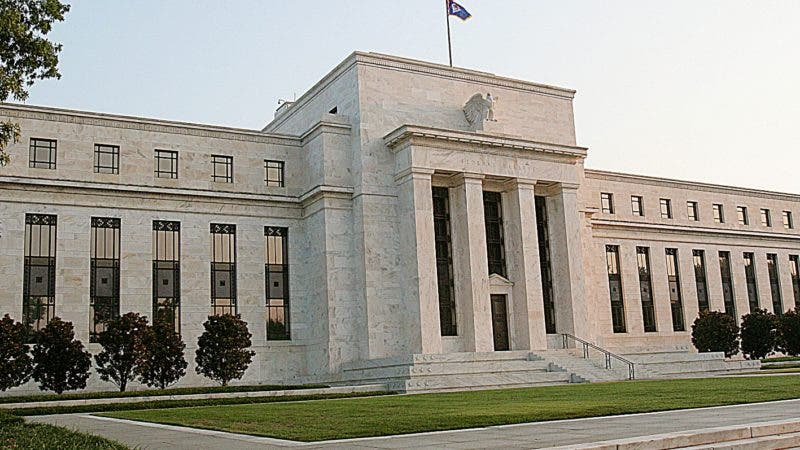 (FILES) This 23 September, 2007file photo shows the front of the Marriner S. Eccles US Federal Reserve Building in Washington, DC. The Federal Reserve is expected 31 October 2007 to imminently dispense a fresh dose of interest rate relief to the world's biggest economy, partly in a bid to offset a nagging housing slump. Most analysts believe the central bank will cut borrowing costs for the second time in as many months following the conclusion of a two-day policy meeting around 1815 GMT Wednesday. Fed watchers anticipate the central bank will announce a cut of a quarter of a percentage point in its federal funds short-term interest rate to 4.50 percent. AFP PHOTO/Karen BLEIER