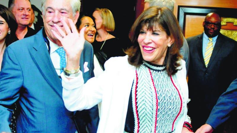 Llegada de la Embajadora de los Estados Unidos Robin Bernstein, al Aeropuerto Internacional de las Américas. 30-08-19 Foto: José Adames Arias.