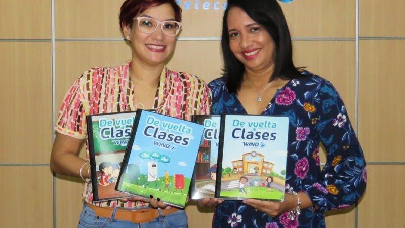 Rostros. Representantes de  la empresa de telecomunicaciones Wind Telecom, realizaron una donación de cinco mil cuadernos para beneficiar a  niños dominicanos.