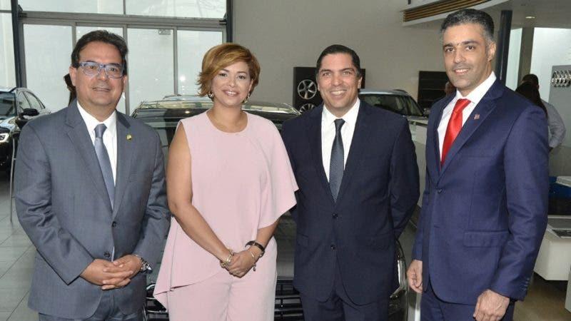Rostros.  Gustavo Zuluaga Alam, Claudia Espinal, Benjamín Paiewonsky y Alexander Gutiérrez