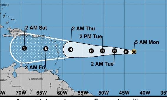 De continuar con su trayectoria, el huracán Isaac pasaría por el Sur de RD el jueves