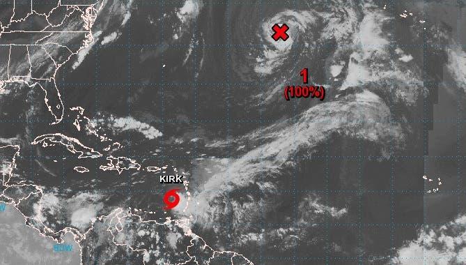 Pronostican aumento de las lluvias en RD por amplio campo nuboso de Kirk