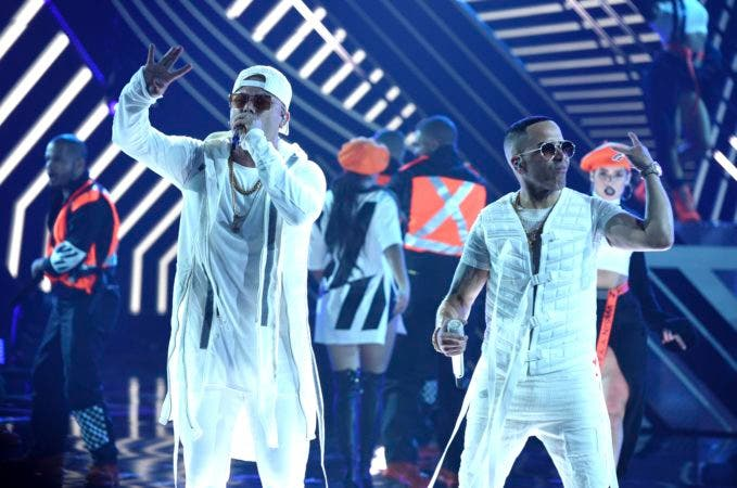 10. Wisin, left, and Yandel perform at the Latin American Music Awards at the Dolby Theatre on Thursday, Oct. 25, 2018, in Los Angeles. (Photo by Chris Pizzello/Invision/AP))