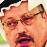 ARCHIVO- En esta fotografía del 15 de diciembre de 2014 se muestra al periodista Jamal Khashoggi durante una conferencia de prensa en Manama, Bahréin. (AP Foto/Hasan Jamali, Archivo)