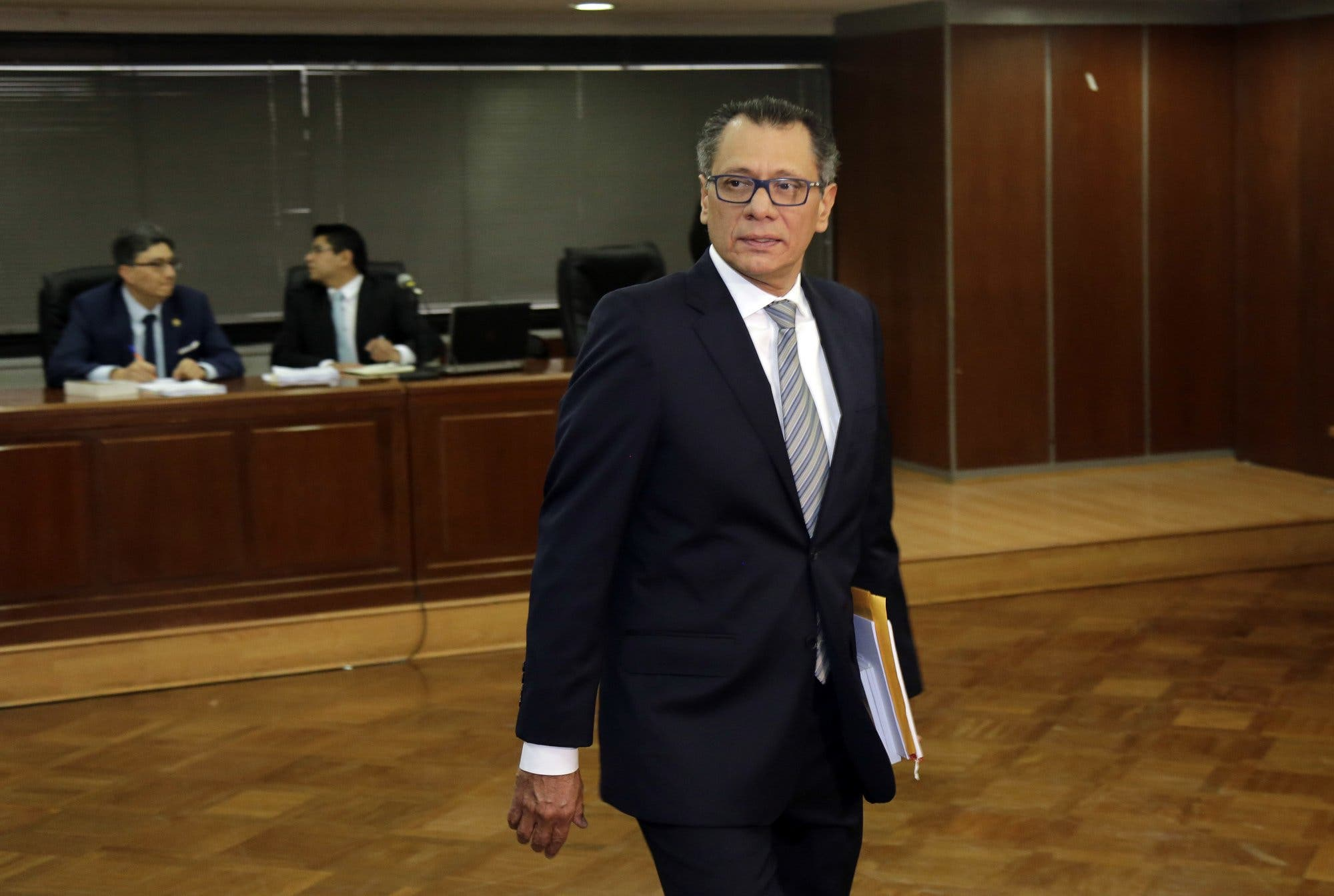 Ex vicepresidente de Ecuador  preso por Odebrecht se declara en huelga de hambre
