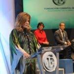 Premios fundación Corripio. Otorgo cinco galardones en diferentes aéreas. En foto: Lucia Corripio. 09-10-18 Foto: José Adames Arias.