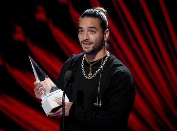 7. Maluma accepts the Extraordinary Evolution Award at the Latin American Music Awards at the Dolby Theatre on Thursday, Oct. 25, 2018, in Los Angeles. (Photo by Chris Pizzello/Invision/AP)