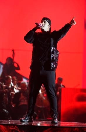 """9. Daddy Yankee performs """"Yo Contra Ti"""" at the Latin American Music Awards at the Dolby Theatre on Thursday, Oct. 25, 2018, in Los Angeles. (Photo by Chris Pizzello/Invision/AP)"""