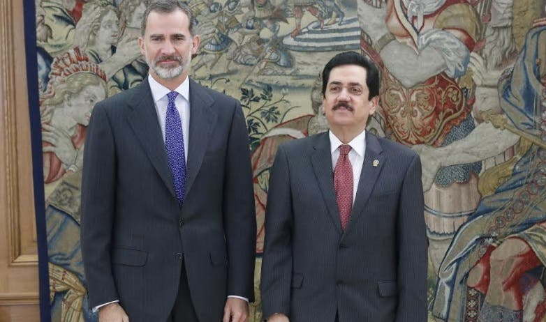 El rey de España se reúne con el presidente del Parlacen Tony Raful