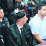Marlon y Marlin Martinez durante la audiencia de ayer.