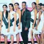 Parte de las candidatas que participarán en el evento de belleza