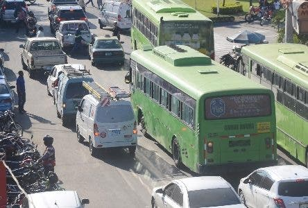 Reportaje a la Huelga del Trasportes Santo Domingo Rep. Dom. 27 de noviembre del 2018. Foto Pedro Sosa