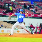Licey vs Leones del Escogido. En foto: Tommy Milone 13-11-18 Foto: Carlos Alonzo