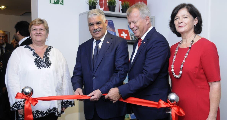 La embajada de Suiza en Rep. Dominicana inaugura las nuevas instalaciones, con la presencia del ministro de Relaciones Exteriores Ing. Miguel Vargas y embajadores de otros países. HOY/ Aracelis Mena. 20/11/2018