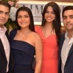 Rostros. Papelera. Belleza.   Andre Najjar, Bella Báez, Andrés Canaán y Shantal Yunén