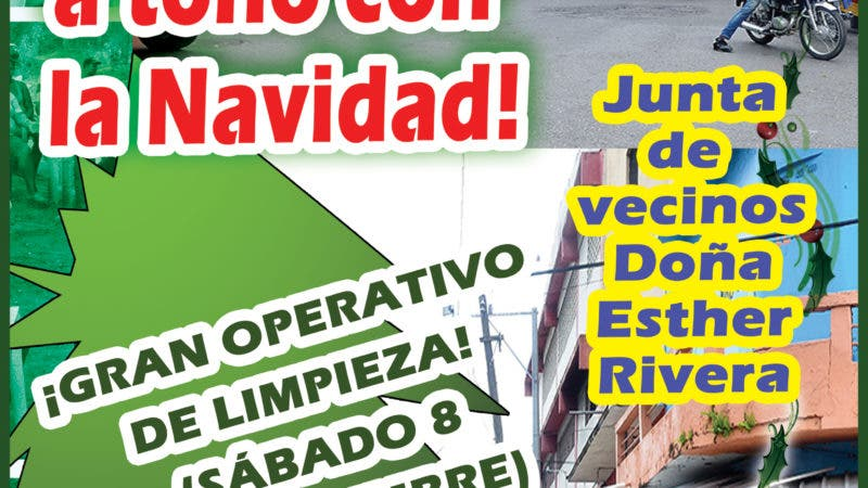 Afiche Limpia Navidad Villacon