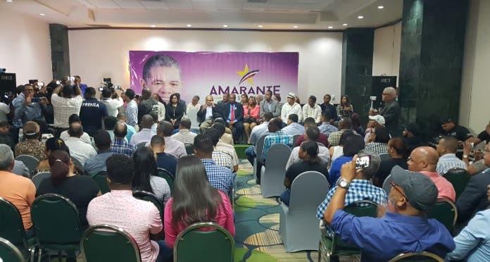 Dirigentes del PLD anuncian respaldo a concentración de Amarante en Palacio de los Deportes