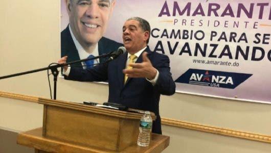 Lo que prometió Amarante Baret a dominicanos residentes en EEUU