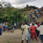 Escenario donde una turba de haitianos despojó de la motocicleta al médico dominicano Pedro Ureña/ Foto: Fuente externa.