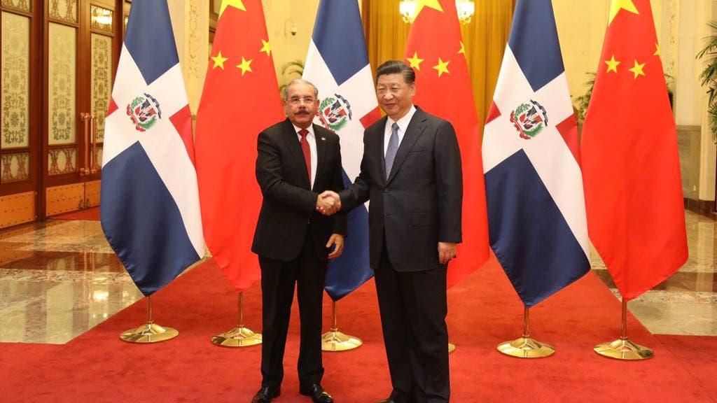 Danilo Medina y Xi Jinping.