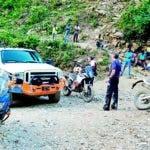 El área donde estaban retenidos los motoristas dominicanos.