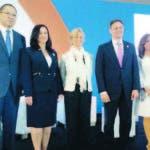 El procurador Jean Rodríguez, junto a los expositores del encuentro