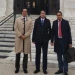 Foto de Orlando Jorge Mera%2c Sigmun Freund y Manuel Conde