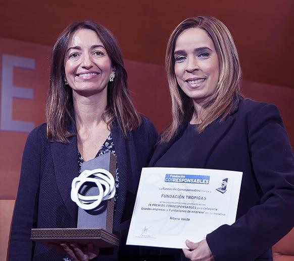 Premian la fundación Tropigas por programa Ribera Verde