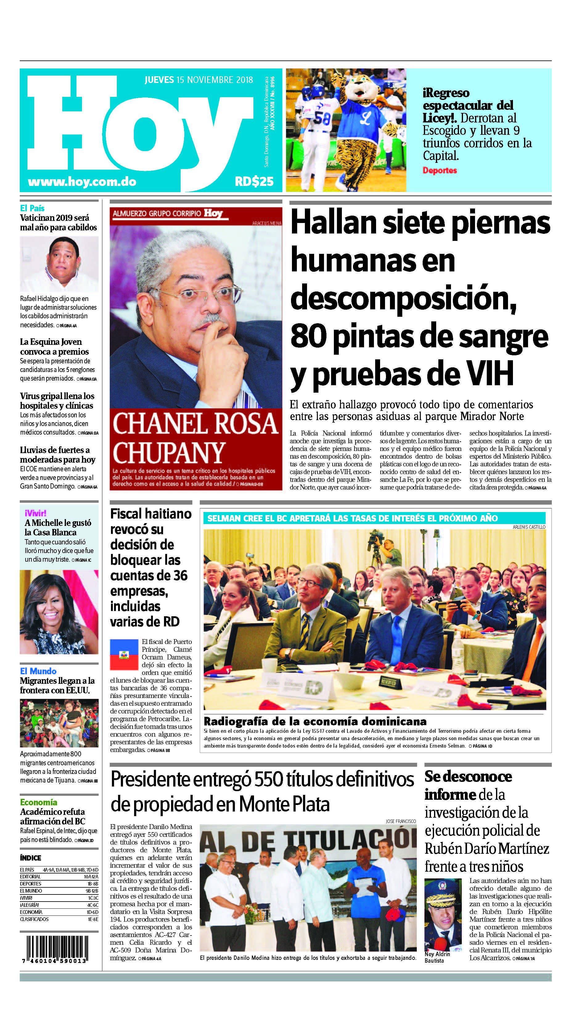 Pages from Edición impresa HOY jueves 15 de noviembre del 2018