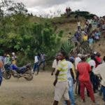 Turba haitianos