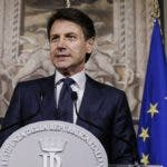 Giuseppe Conte addresses the media at the Quirinale presidential palace in Rome, Thursday, May 31, 2018. Italy's president has tapped law professor Giuseppe Conte to be Italy's next premier heading Italy's first populist government. The president's office announced Thursday that Conte had accepted the role, and that he would be sworn in Friday afternoon with ministers. (Fabio Frustaci/ANSA via AP)