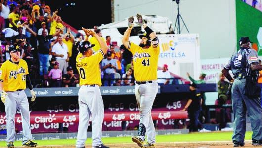 Peña decide con jonrón victoria de las Aguilas