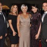 Rostros. Navidad arrugada.  Gustavo Olivo, Elizabeth García, Gianni Paulino, Vilma Paulino y Gustavo José Olivo.