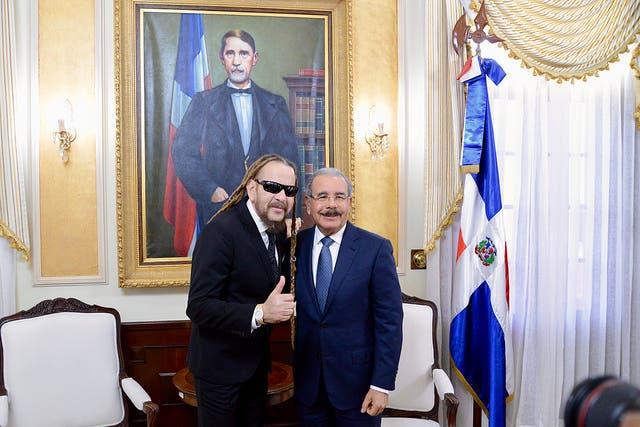 Danilo Medina y Toño Rosario