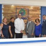 Durante la reinauguración de las modernas oficinas, altos directivos de CENAPEC, encabezados por el Lic. Anotnio Musa, director Ejecutivo