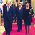 El presidente Danilo Medina, la diputada Josefa Castillo, el presidente