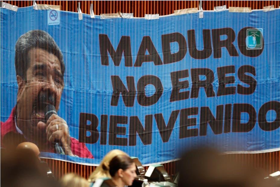 Maduro llega al Palacio Nacional de México en medio de polémica por su visita