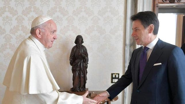 El papa habló de inmigración con el presidente del Gobierno de Italia