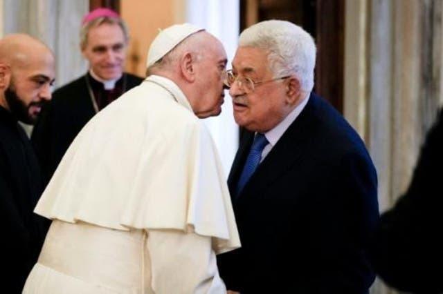 El papa pide que se «reanude el proceso de paz» entre Israel y los palestinos