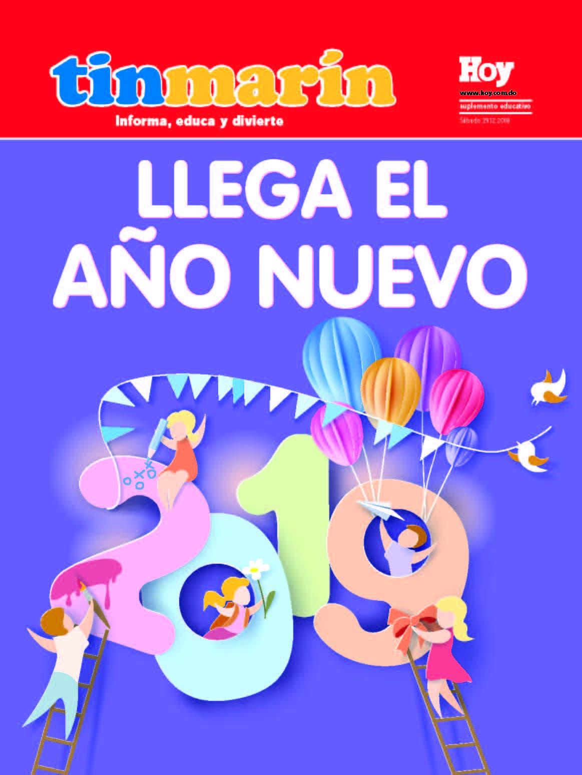 portada Tinmarín, sábado 29  diciembre, 2018