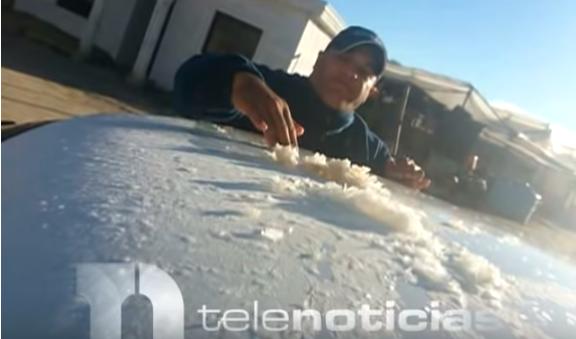 Residentes de Valle Nuevo reportan que nevó en la zona