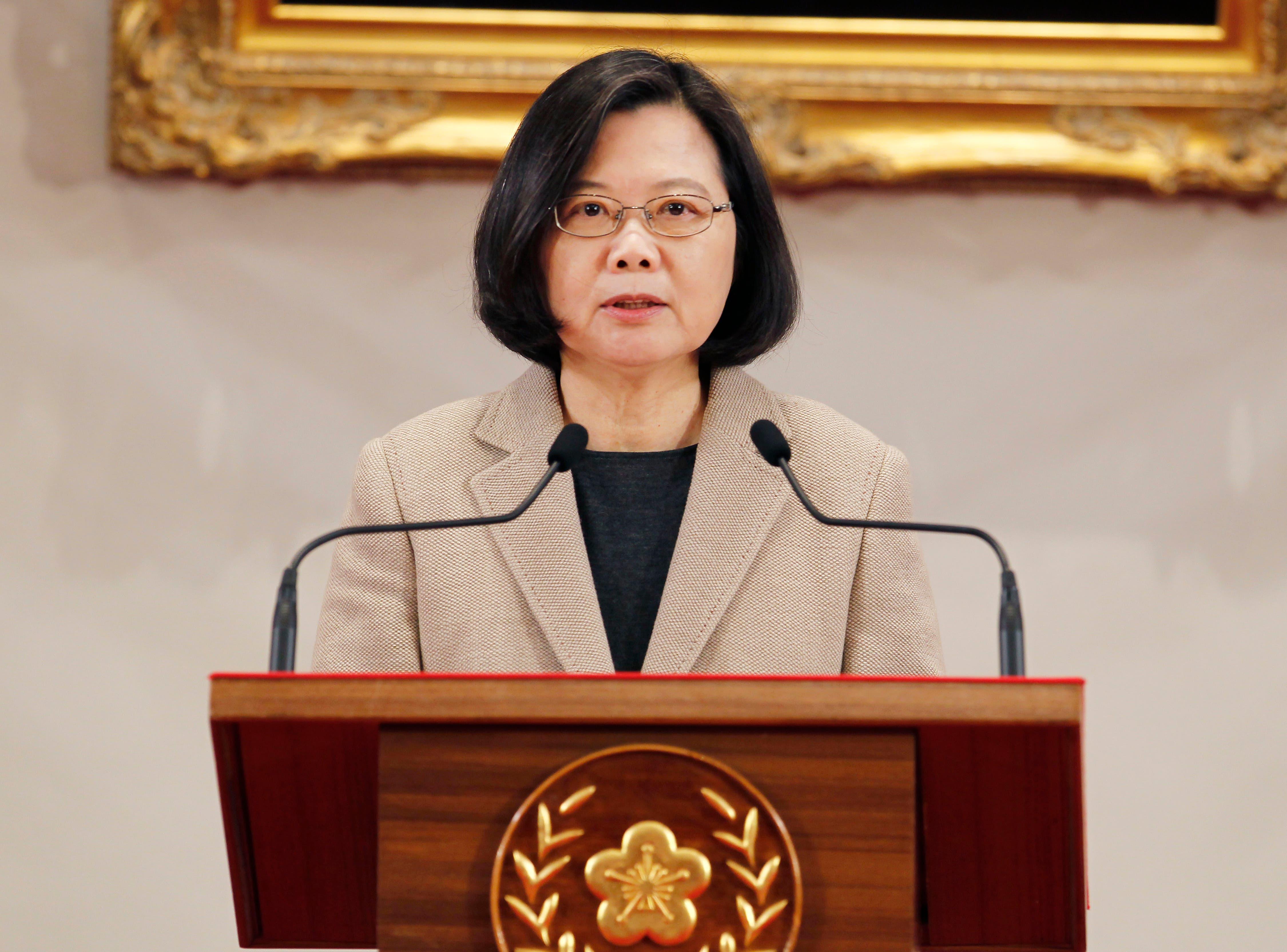 La presidenta de Taiwán pide a China que respete su democracia
