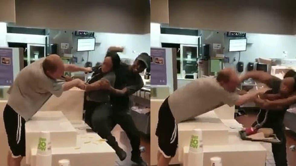 LO VIRAL: Vea el pleito entre empleada de McDonald's y un hombre que quiso agredirla