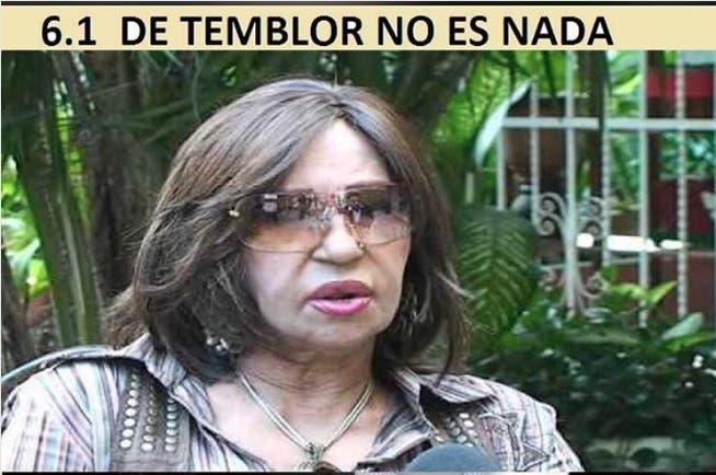 Fefita La Grande reacciona ante memes del sismo alusivos a su edad