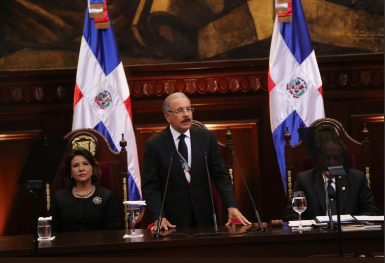 Presidente Danilo Medina en su rendición de cuentas número siete ante la Asamble Nacional