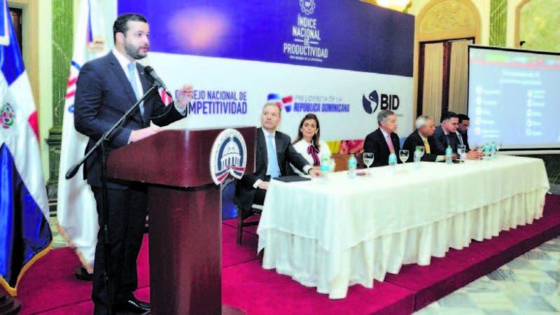 Rafael Paz, director ejecutivo de Competitividad, durante la presentación del Índice.