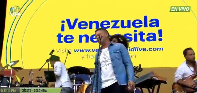 En vivo: Lucha de poder en Venezuela alcanza a la música en concierto