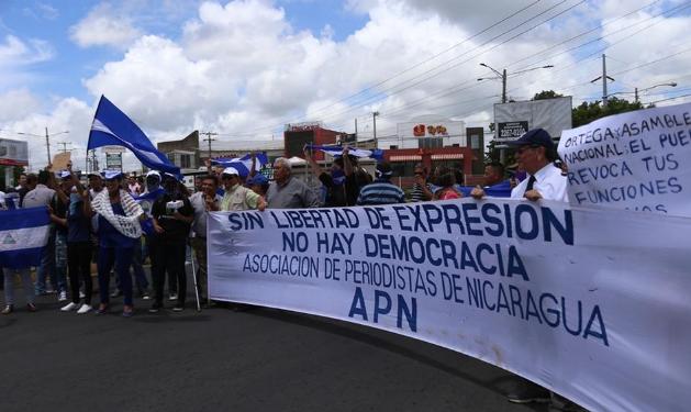 """SIP denuncia que la situación de libertad de prensa es """"crítica"""" en Nicaragua"""