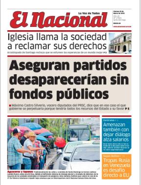 Edición impresa EL NACIONAL viernes 29 de marzo del 2019